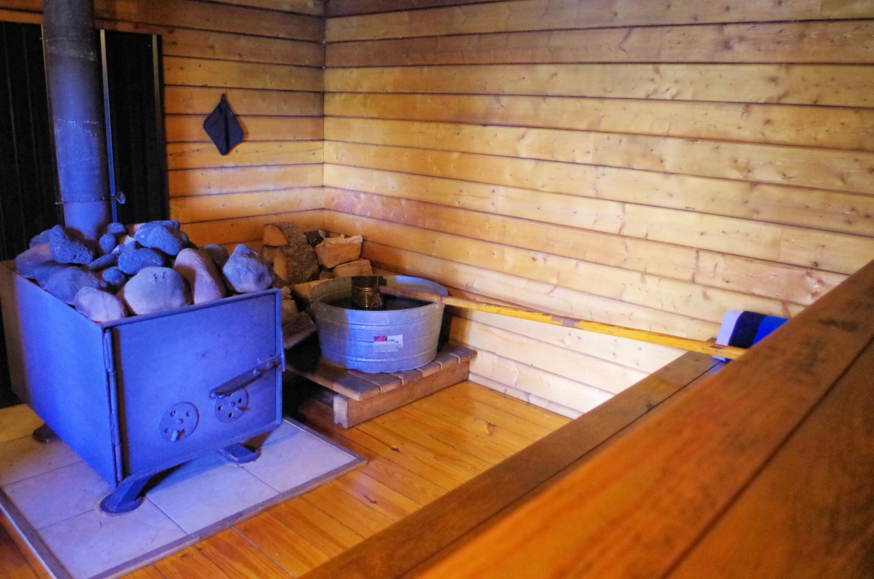 Cedar sauna building