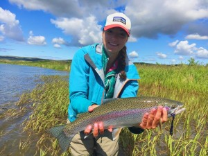 Girl Fly Fishing