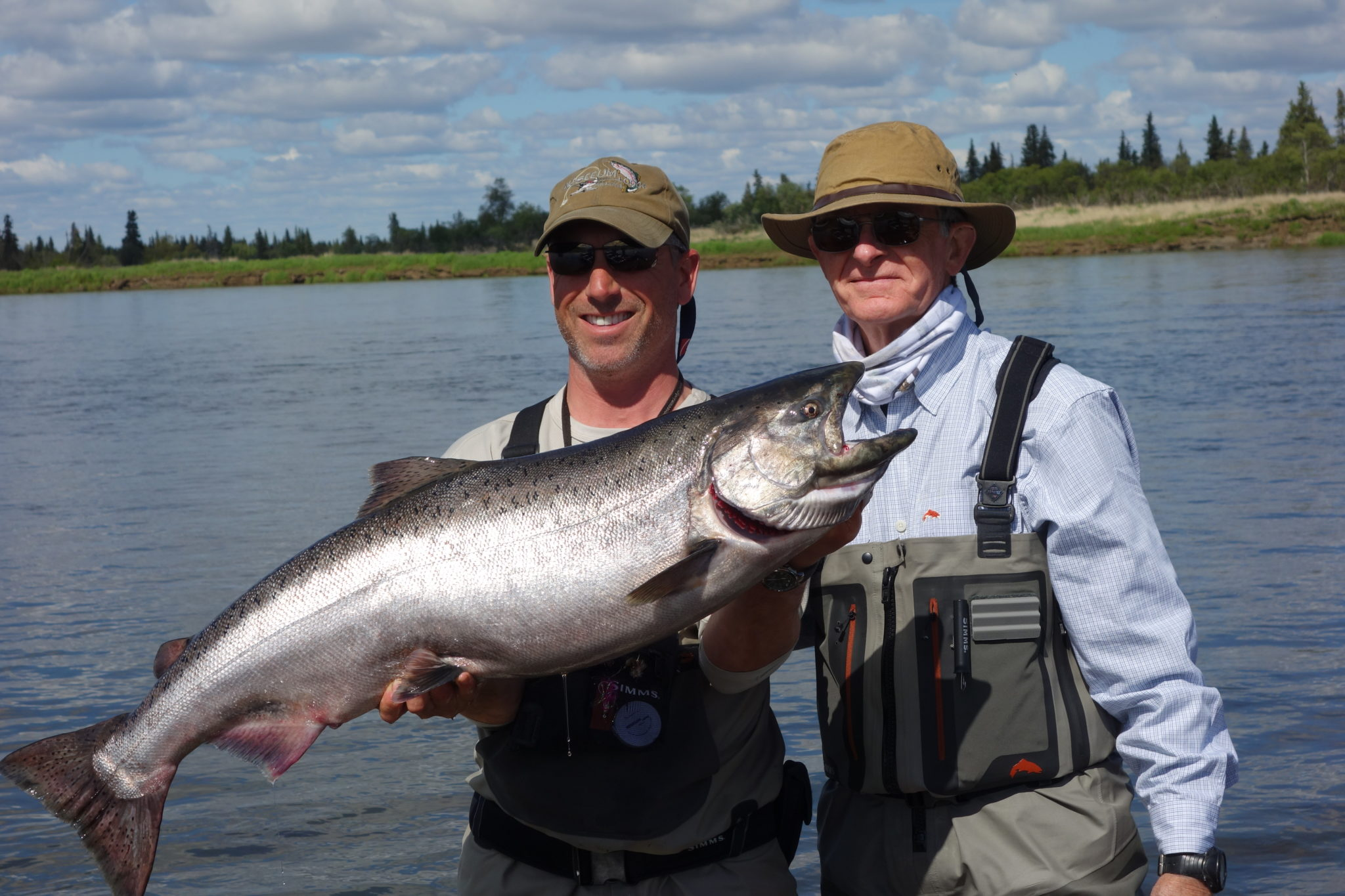 Alaska king salmon fly fishing trips no see um lodge for Salmon fishing anchorage